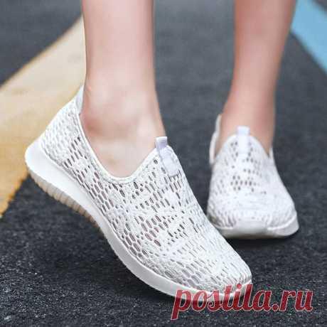 Women Casual Knitted Slip On Walking Flat Sneakers - US$29.99