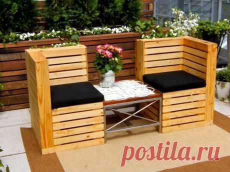 Стильно и практично! Сногсшибательные идеи мебели из паллет! | Khitrosti