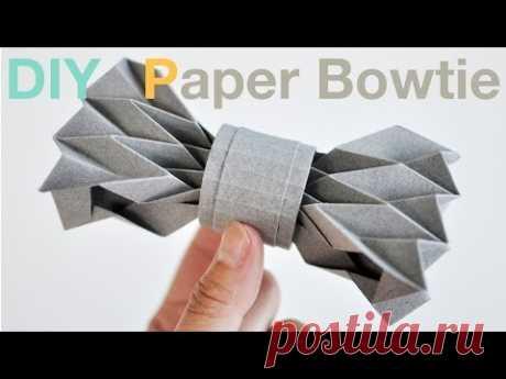 Галстука-бабочка, бесплатная развертка для паперкрафт