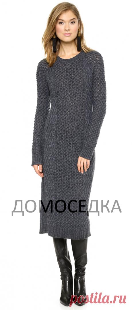 Модное платье спицами | ДОМОСЕДКА