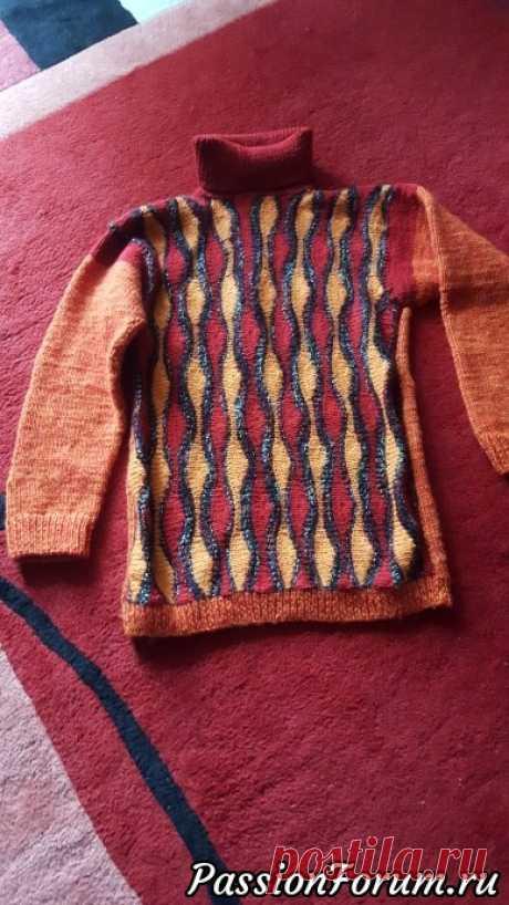 Мужской свитер укороченными рядами. - запись пользователя Nusikum (Инна) в сообществе Вязание спицами в категории Вязание спицами. Работы пользователей