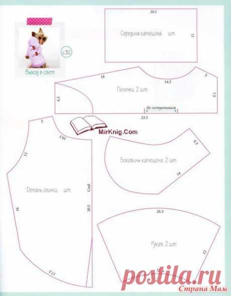 Курточка с капюшоном + МК - Гардероб для наших любимых питомцев (собак, кошек) - Страна Мам