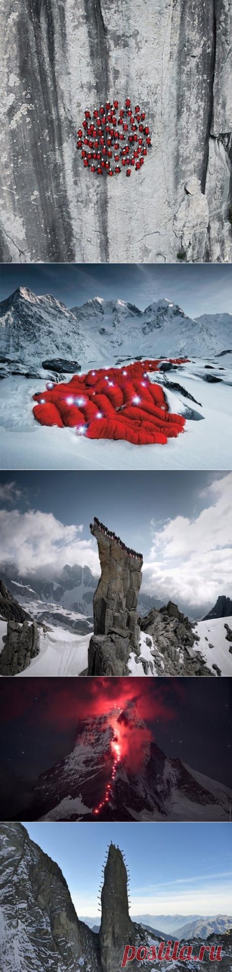 Сотни альпинистов поднялись на Альпы для нереально крутых фотографий - Путешествуем вместе