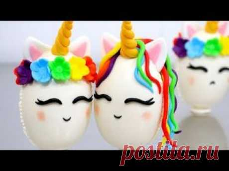 DIY Unicorn Surprise Chocolate Eggs How to make by Cakes StepbyStep mp4