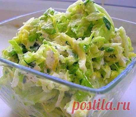 Зелёный витаминный салат!