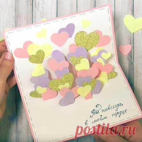 Валентинка своми руками из бумаги. Мастер-классы