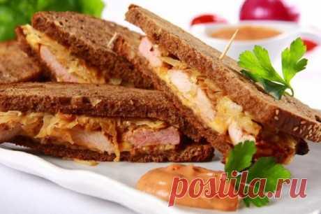 Бутерброды с жареным мясом и сыром – пошаговый рецепт с фото.