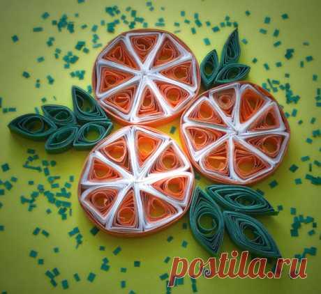 Бумажные апельсинные дольки — Сделай сам