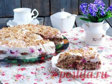 Торт из овсяного печенья без выпечки — рецепт с фото пошагово