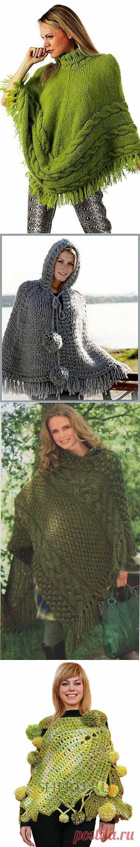 Схема вязанья пончо » Городская женщина