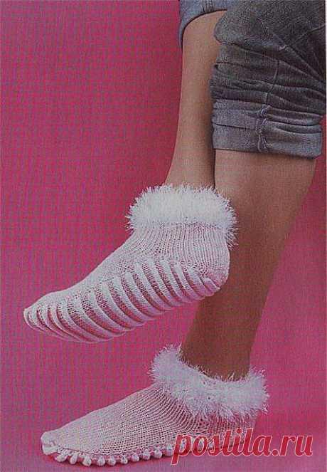Носки с массажной подошвой. Вязание спицами | Умелые ручки