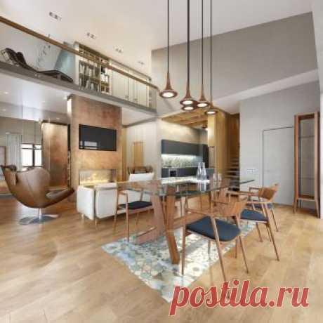 Как создать уютный и тёплый интерьер? Ответ кроется в этом двухэтажном доме площадью 200 квадратных метров, в котором живёт успешный финансовый аналитик