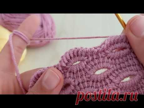 Super Tunusian crochet knitting - Çok kolay tunus işi patik yelek modeli