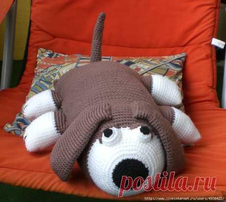Собачка-подушка. Hound Pillow Toy by Sue Penrod.