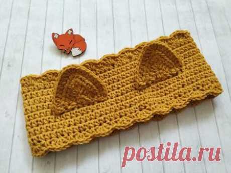 Милая повязка с ушками для малышки » «Хомяк55» - всё о вязании спицами и крючком
