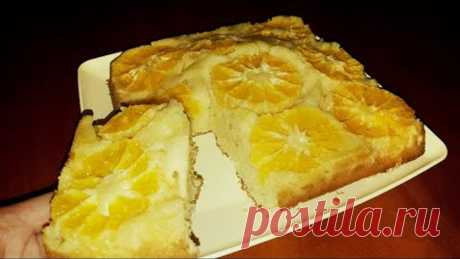 Пирог с мандаринами, РЕЦЕПТ ПРОСТО БОМБА. Заливаем мандарины тестом. Зимний пирог