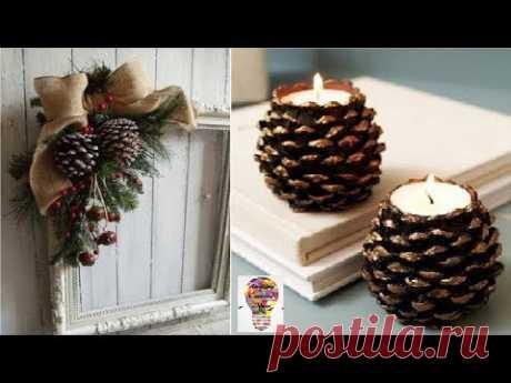 Niesamowite pomysły na ozdoby i dekoracje z szyszek #2