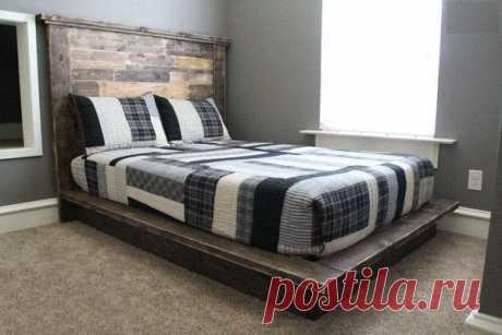 Кровать на подиуме своими руками.