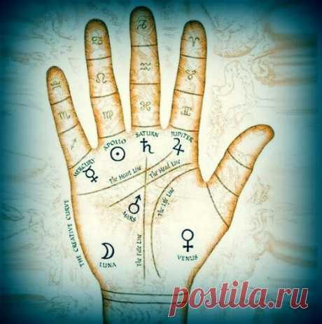 Los signos mágicos a usted en la palma