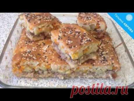 Очень простой рецепт пирога с мясом из теста без закваски и дрожжей