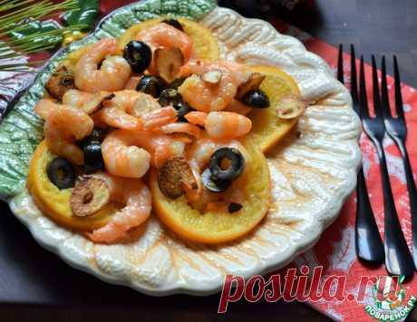 Креветки с жареными апельсинами – кулинарный рецепт