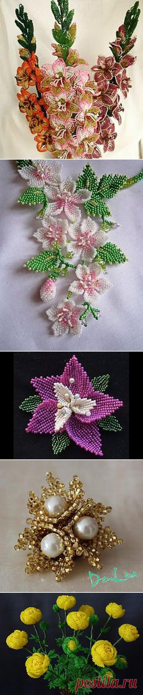 Бисероплетение - деревья, цветы | Идеи и фотоинструкции бесплатно на Постиле | Постила