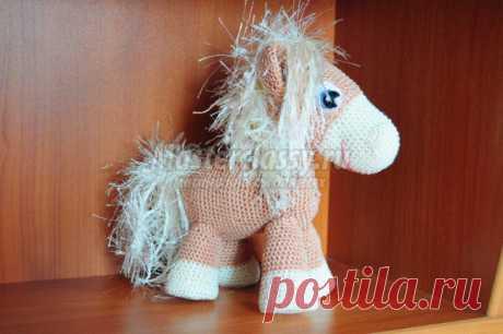 Новый год 2014. Вязаная лошадка - пони. Мастер класс с пошаговыми фото
