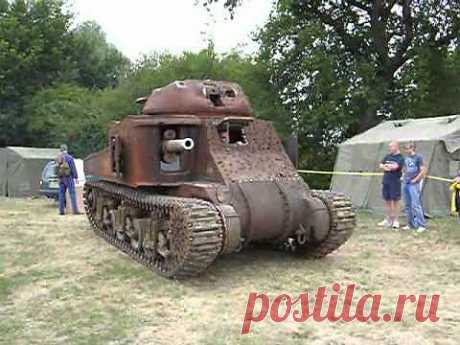 M3 Grant Tank - Home for my Radial Engine Beltring 2005 - YouTube