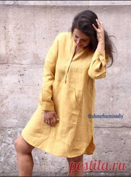 Шикарное летнее платье-рубашка (Diy) Модная одежда и дизайн интерьера своими руками