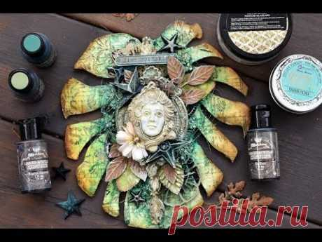 Mixed media project- Liquid Acrylic Paint and Icing Paste- Tutorial - YouTube
