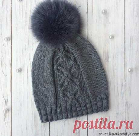 Cap from arana spokes the Fashionable cap spokes. Beautiful model which can be carried as with a down-padded coat and a fur coat. The pompon decorates a cap. The center of a hat matches an aranovy pattern according to the scheme. …