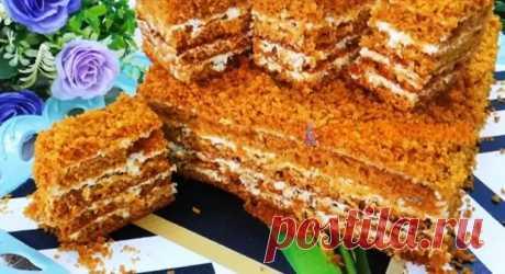 Медовый торт. Kаκ пух - Вкусные рецепты - медиаплатформа МирТесен