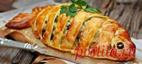 Пирог с рыбой – рецепты с рисом, капустой из дрожжевого или заливного теста