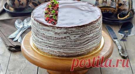 Шоколадный блинный торт со сливочным кремом - Журнал для женщин