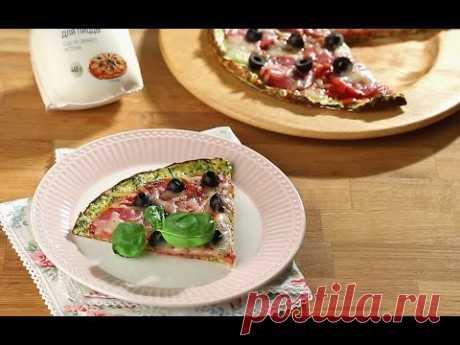 Пицца из цукини с моцареллой