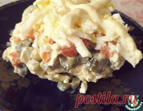 Слоёный салат с куриной печенью – кулинарный рецепт