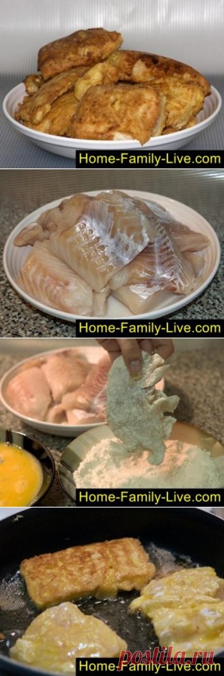Жареный минтай/Сайт с пошаговыми рецептами с фото для тех кто любит готовить