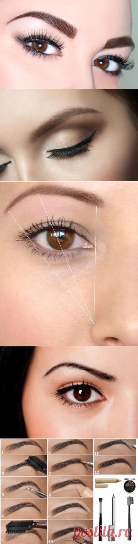 Идеальные брови: уход, коррекция, подбор цвета / Все для женщины