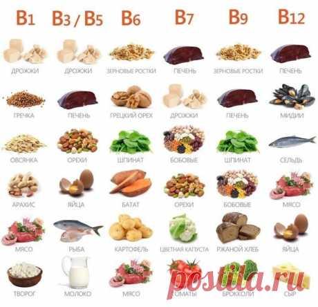 Где какие витамины группы В. На заметку