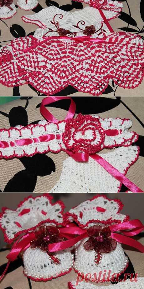 """Платье """"Цветок сакуры! 2 / Вязание крючком. Ваши работы / PassionForum - мастер-классы по рукоделию"""