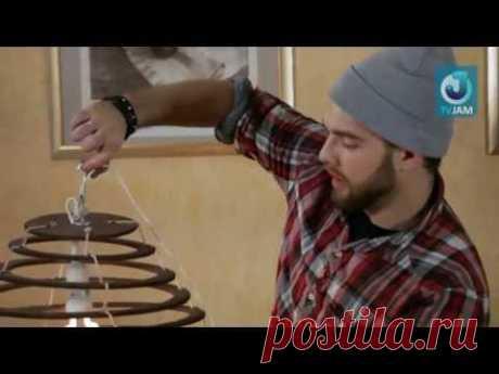Видео мастер-класс по выпиливанию лобзиком: Абажур из фанеры