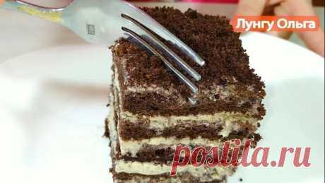 Кофейный торт без раскатки коржей.
