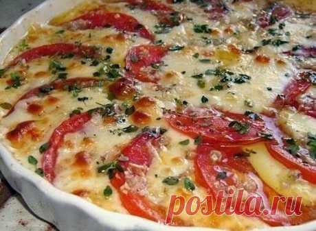 Потрясающе вкусная закуска из помидоров и сыра