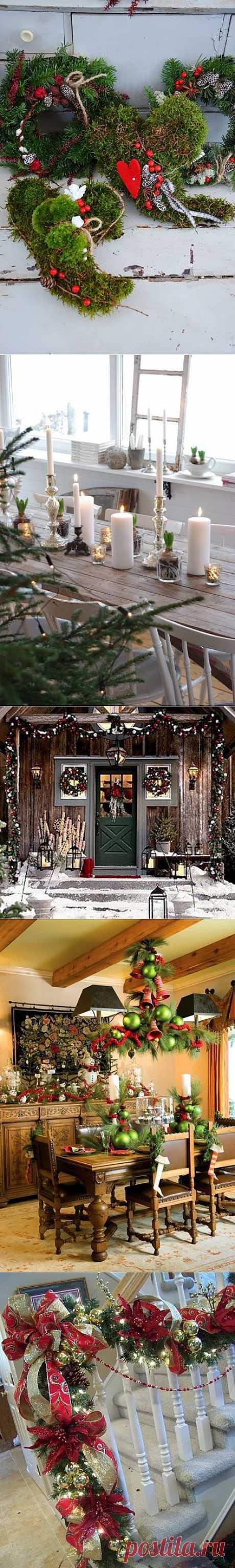 Рождественский декор дома.