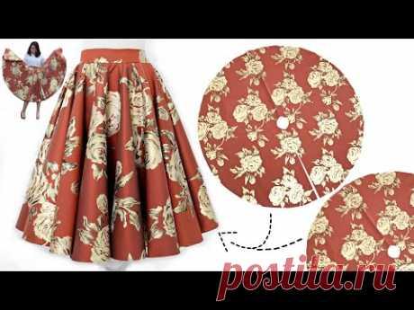 О пошиве двойной расклешенной юбки миди, которую можно сшить любого размера.