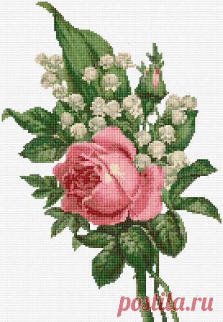 Вышивка крестом | Роза xstitch Chart | дизайн