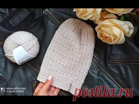 Вяжем простую и красивую шапку тыковку.