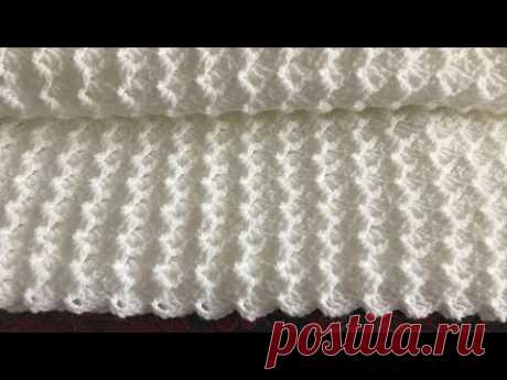 Легкое детское одеяло для вязания крючком / Одеяло для вязания крючком / Шаль для вязания крючком