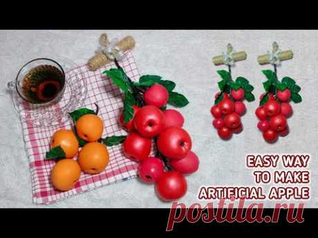 Cara Mudah Membuat Buah Apel Artificial dari Balon | Kitchen Decor Ideas | Recycle