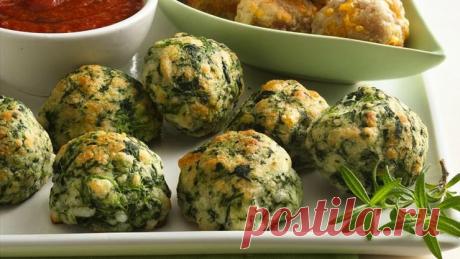 Рецепт быстрой закуски из шпината и сыра